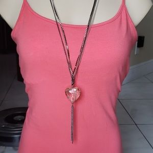 Simply Vera Wang Wrapped Crystal Heart Necklace